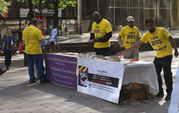 AMERICAN ISLAMIC OUTREACH -Uptown Information Table @ intersection Trade St and Tryon St-2