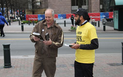 AMERICAN ISLAMIC OUTREACH -Information Table @ intersection Trade St and Tryon St
